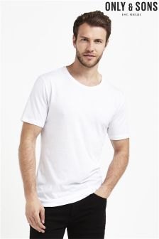 Only & Sons Curve Hem Tee