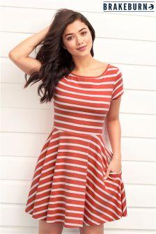 Brakeburn Jersey Striped Skater Dress