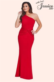 Jessica Wright One Shoulder Maxi Dress