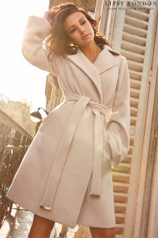 Lipsy Love Michelle Keegan Bell Sleeve Wrap Coat