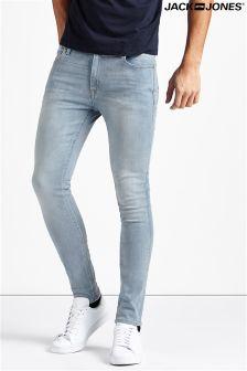 Jack & Jones Stretch Skinny Fit Jeans In Light Wash Blue