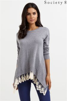 Society 8 Lace Hem 2 In 1 Jumper