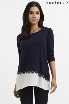 Society 8 2 In 1 Lace Jumper