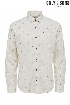Only & Sons Slim Print Shirt