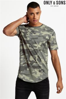 Only & Sons Camo Short Sleeve Tee