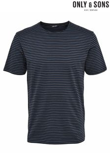 Only & Sons Stripe Fitted Tee