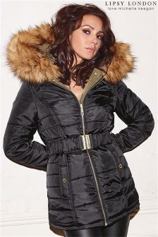 Lipsy Loves Michelle Keegan Reversible Padded Coat