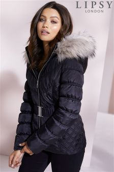 Lipsy Short Belted Puffer Coat