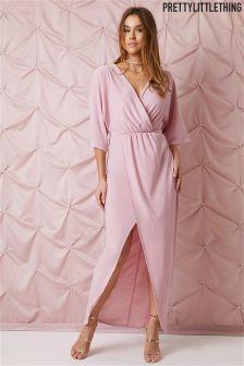 PrettyLittleThing Cape Sleeve Maxi Dress