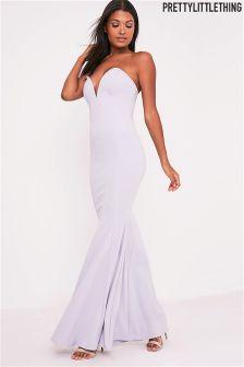 PrettyLittleThing Sweetheart Fishtail Maxi Dress