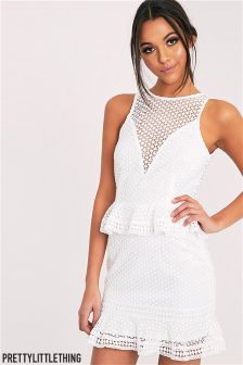 PrettyLittleThing Verity Lace Bodycon Dress