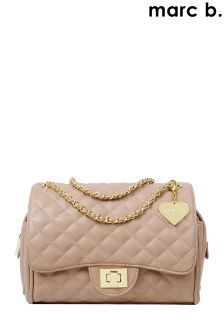Marc B Luxury Feel Classic Quilted Handbag