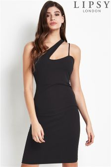 Lipsy One Shoulder Cut Out Bodycon Dress