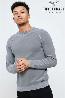 Threadbare Crew Neck Wash Jumper