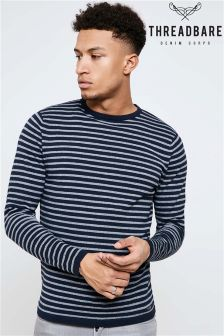 Threadbare Stripe Crew Neck Jumper