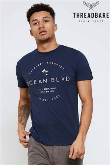 Threadbare Slogan Print T-Shirt