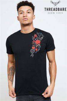 Threadbare Embroidered Shoulder T-shirt