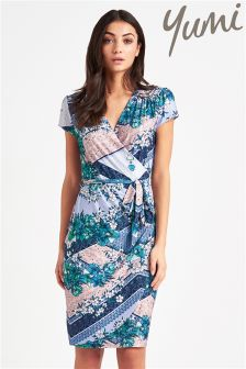 Yumi Floral Tile Belt Dress