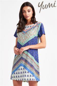 Yumi Floral Tile Shift Dress