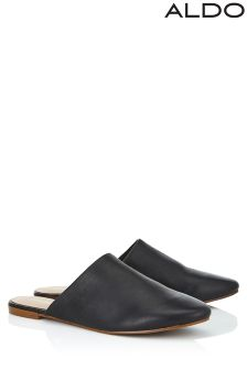Aldo Leather Flat Mules