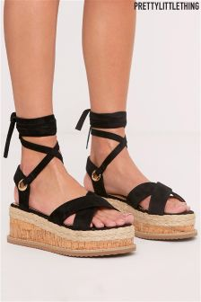 PrettyLittleThing Rope Wedge Sandals