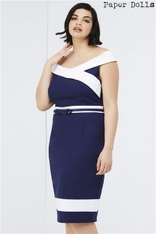 Paper Dolls Curve Panel Detail Dress