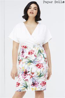 Paper Dolls Curve Floral Print 2 In 1 Dress