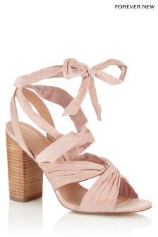 Forever New Ankle Tie Block Heels