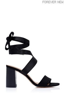 Forever New Block Heel Ankle Tie Sandals