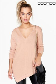 Boohoo Plus Asymmetric Knitted Jumper