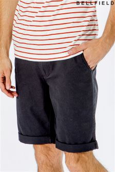 Bellfield Belted Chino Shorts