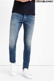 Jack And Jones Straight Fit in Mid Wash Denim