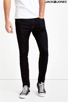 Jack & Jones Stretch Skinny Fit Jeans In Raw Blue Denim