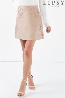 Lipsy Embroidered Mini Skirt