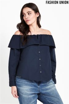 Fashion Union Curve Off Shoulder Shirt