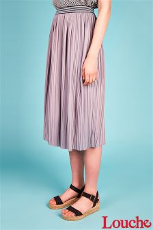 Louche Pleated Midi Skirt