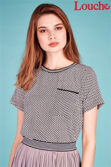 Louche Sporty Trim Printed Top