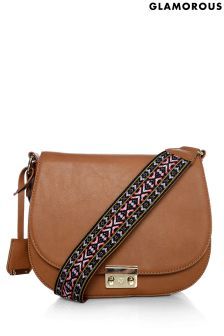 Glamorous Aztec Strap Cross Body Bag