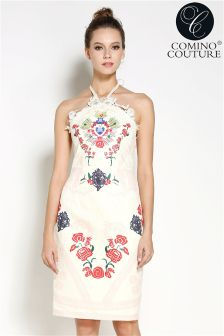 Comino Couture Vintage Halterneck Dress