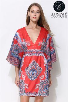 Comino Couture Printed Kimono Dress