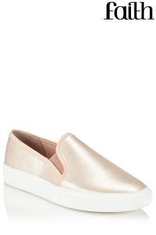 Faith Satin Skater Trainers
