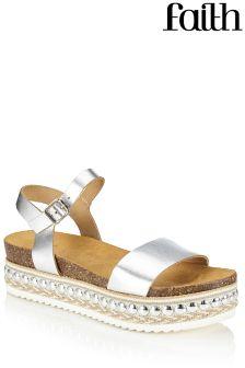 Faith Flatform Metallic Sandals
