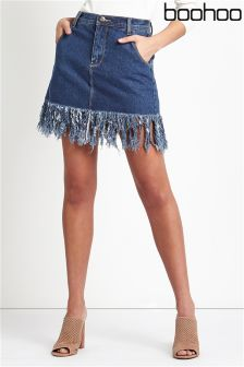 Boohoo Tassel Mini Skirt
