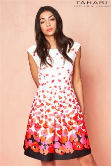 Tahari Floral Print Skater Dress