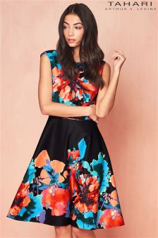 Tahari Floral Printed Midi Dress