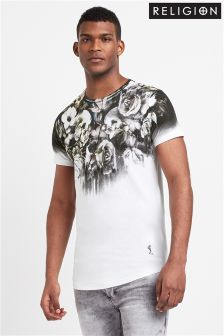 Religion Mens Wild Night Print Tee