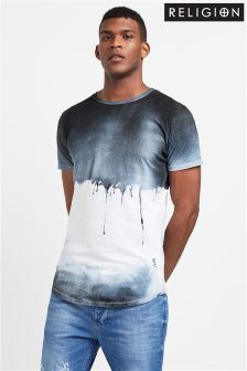 Religion Soft Drips Print Tee