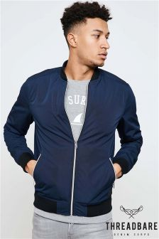 Threadbare Zip Through Bomber Jacket