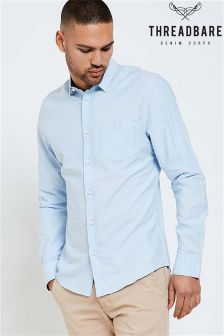 Threadbare Long Sleeve Cotton Oxford Shirt