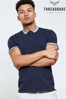 Threadbare Contrast Collar Polo Shirt